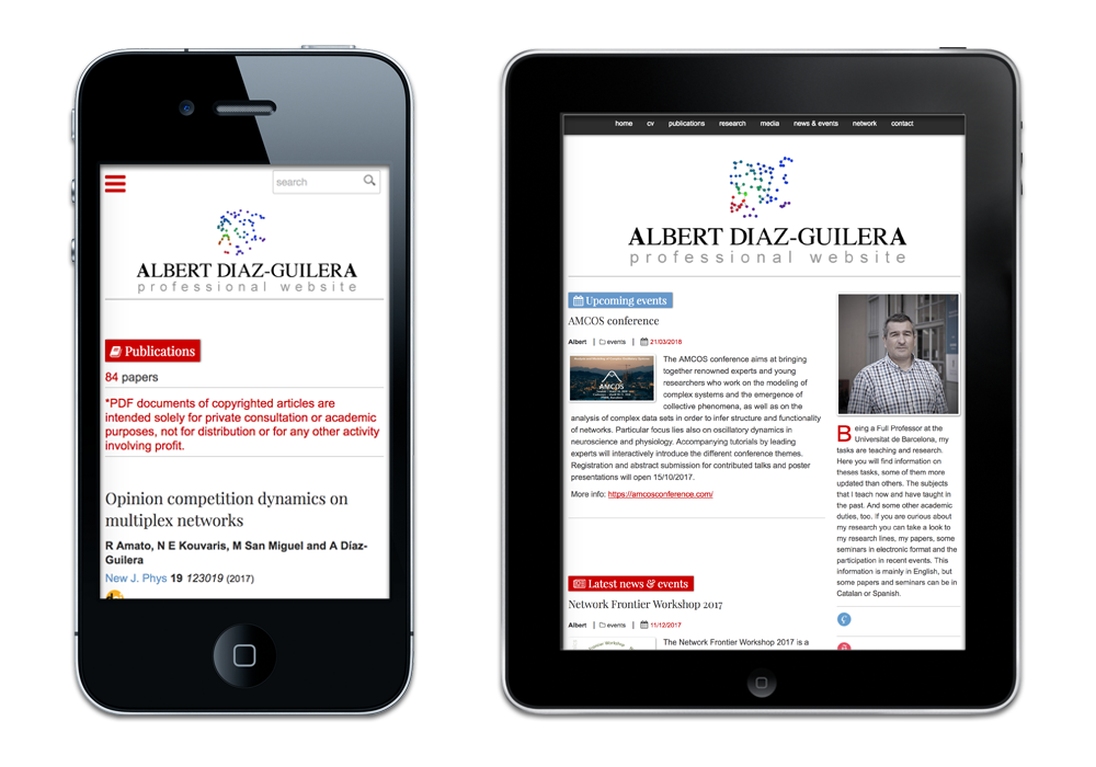 Albert Díaz-Guilera Professional website