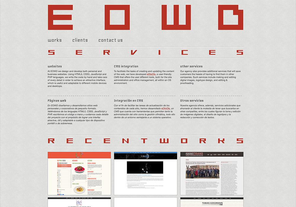 EOWD web design